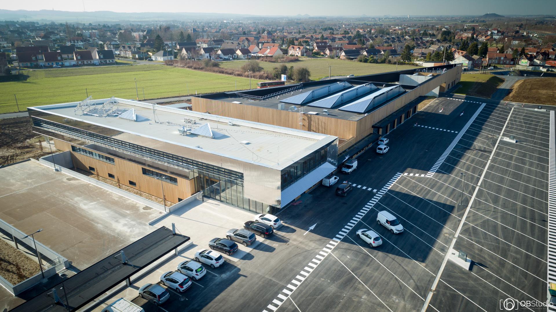 Photographie aérienne bâtiment - OBSTUDIO
