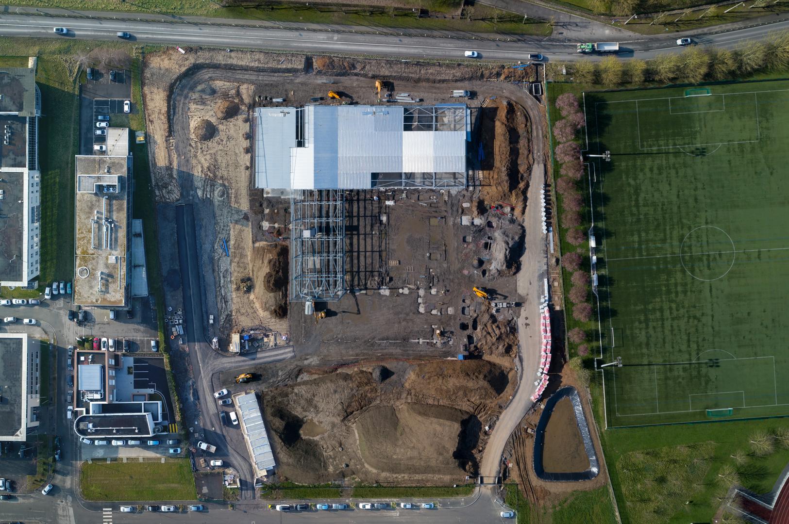 Photographie aérienne d'un chantier - OBSTUDIO